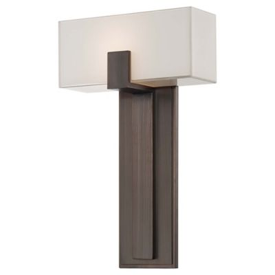 Wall Sconce Frosted Glass : George Kovacs Wall Sconce in Copper Bronze Patina with White Frosted Glass Shade - Bed Bath ...