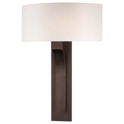 Bronze Wall Sconce With Fabric Shade : Buy George Kovacs 1-Light Wall Sconce in Bronze with White Fabric Shade from Bed Bath & Beyond
