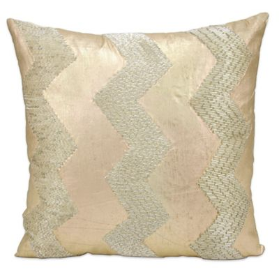 image of Mina Victory Luminescence 16-Inch Throw Pillow in Gold