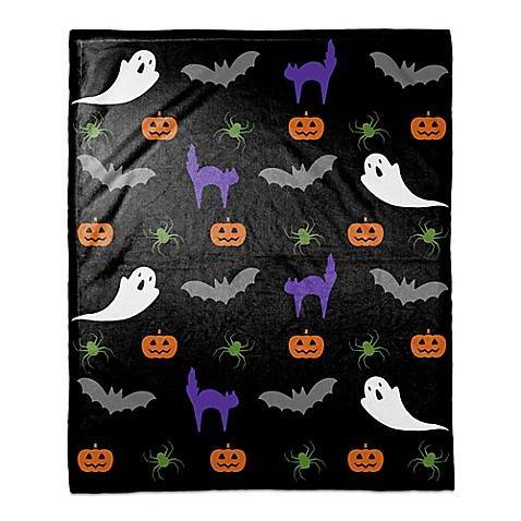 Halloween Damask Throw Blanket Bed Bath Amp Beyond