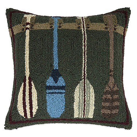 Throw Pillows Meaning : Buy Lodge Oar Hook Square Throw Pillow in Green from Bed Bath & Beyond