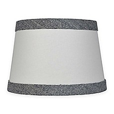 Small large lamp shades chandelier shades bed bath beyond image of mix match small 10 inch textured black trim lamp shade in white aloadofball Images