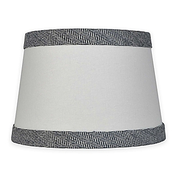 Small large lamp shades chandelier shades bed bath beyond image of mix match small 10 inch textured black trim lamp shade in white aloadofball Choice Image