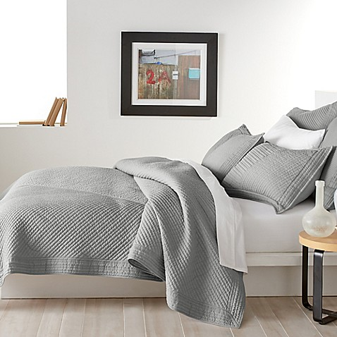 Buy DKNY West Side Twin Quilt in Grey from Bed Bath & Beyond