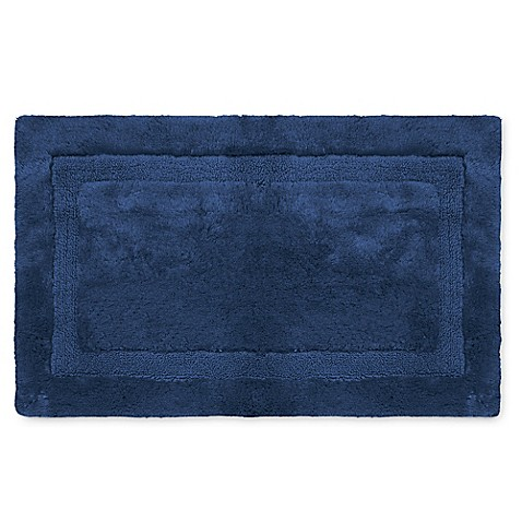 Buy Wamsutta Luxury 24 Inch X 40 Inch Border Plush Microcotton Bath Rug In Midnight From Bed