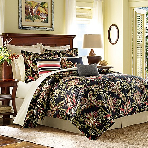 Tommy bahama jungle drive duvet cover in black bed bath beyond tommy bahamareg jungle drive duvet cover in black gumiabroncs Gallery