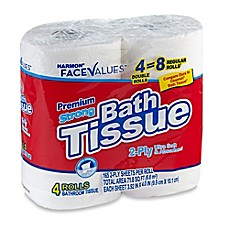 image of Harmon® Face Values™ 4-Count Double Rolls Premium Strong Bath Tissue