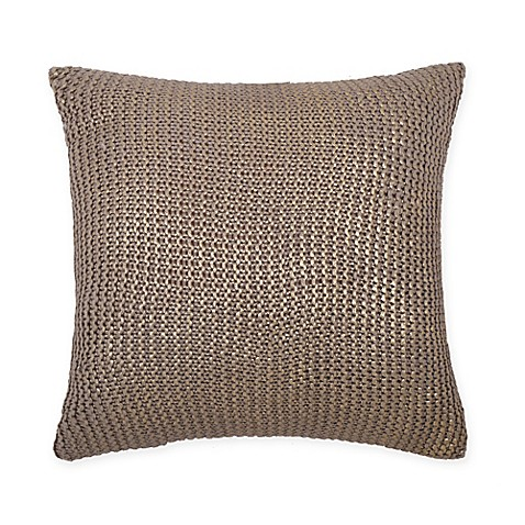 Metallic Gold 18-Inch Square Throw Pillow - Bed Bath & Beyond