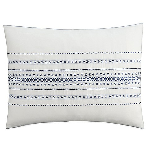 Buy Cupcakes And Cashmere Indigo Stripe Standard Pillow