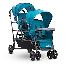 image of Joovy® Big Caboose Graphite Stand-On Triple Stroller in Turquoise