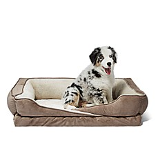 image of Crisscross Orthopedic Foam Pet bed with Bolster Walls