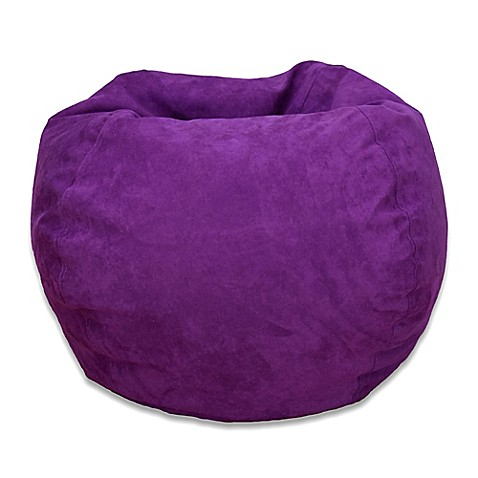 Large Microsuede Bean Bag Chair Bed Bath Amp Beyond