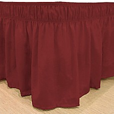 image of EasyFit™ Solid Twin/Full Ruffled Bed Skirt