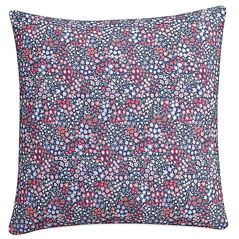 Cupcakes And Cashmere Sketch Floral Square Throw Pillow In