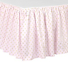 image of Just Born® Sparkle Crib Skirt in Pink