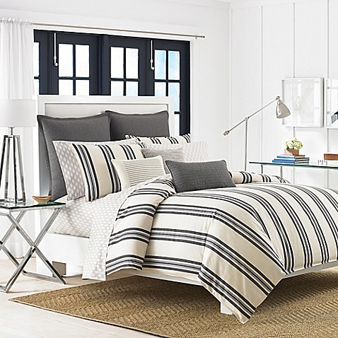 Buy Nautica Hayes King Comforter Set In Ivory Grey From Bed Bath Beyond