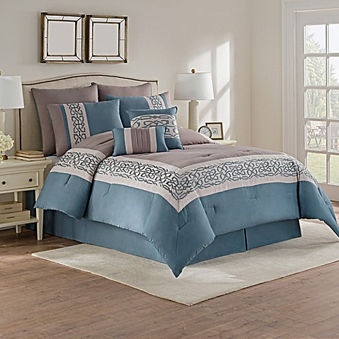 wonderful gray green bedroom bedding | Dorsey Comforter Set in Grey/Green - Bed Bath & Beyond