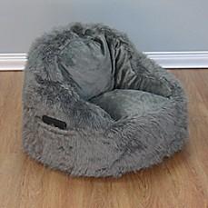 Structured Tablet Fur Pocket Bean Bag Chair
