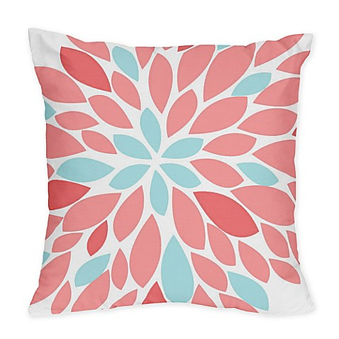 Buy Sweet Jojo Designs Emma Throw Pillows in White/ Turquoise (Set of 2) from Bed Bath & Beyond