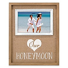image of Malden® 4x6 Honeymoon Frame in Burlap