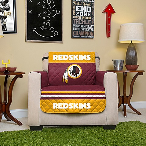 Buy nfl washington redskins chair cover from bed bath beyond for Nfl furniture covers