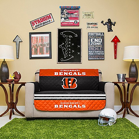 Nfl Cincinnati Bengals Love Seat Cover Bed Bath Amp Beyond