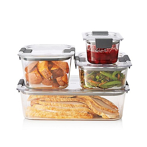 Rubbermaidu0026reg; Brilliance 8-piece Food Storage Container Set  sc 1 st  Bed Bath u0026 Beyond & Rubbermaid® Brilliance 8-piece Food Storage Container Set - Bed Bath ...