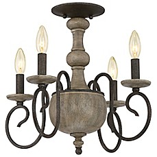 image of Quoizel Castile 4-Light Semi-Flush Mount Chandelier
