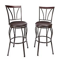 image of ashton bar stool in bronze set of 2