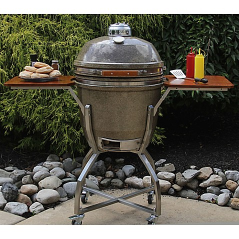 Hanover Kamado 19 Inch Ceramic Grill With Stainless Steel