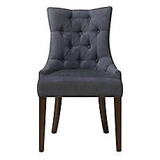 image of pulaski dining chair in darkwash denim