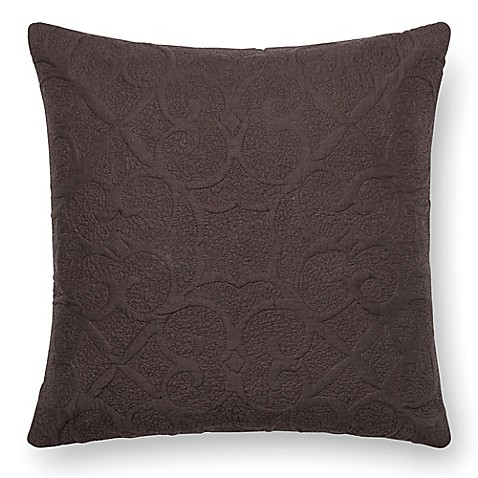 Dark Brown Throw Pillow : Loloi Square Down Throw Pillow in Dark Brown - Bed Bath & Beyond