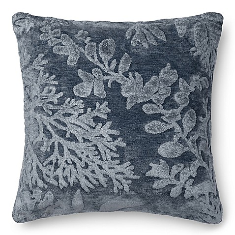 Square Throw Pillow Pattern : Buy Loloi Coral Pattern 22-Inch Square Throw Pillow in Denim from Bed Bath & Beyond