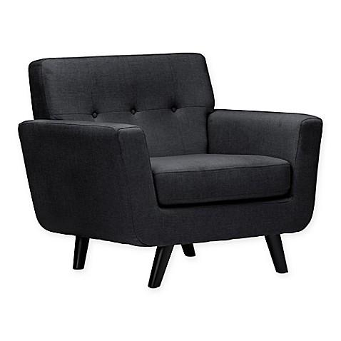 buy baxton studio damien arm chair in grey from bed bath