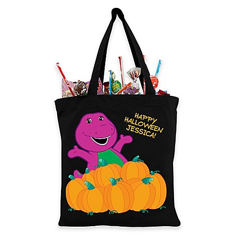 Buy Barney Pumpkin Patch Trick-Or-Treat Bag in Black from Bed Bath & Beyond