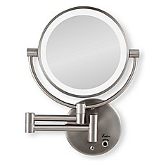 Image Of Zadro™ 10x/1x Cordless LED Lighted Wall Mirror