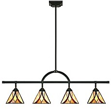 image of Quoizel Asheville 4-Light Ceiling-Mount Fixed Track Light in Valiant Bronze