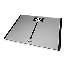 Image Of Detecto® Wide Body Platform Glass Digital Bathroom Scale With Tru  White™ LCD