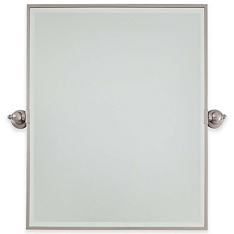 buy minka lavery pivoting mirrors 30 inch rectangle mirror with brushed nickel finish from bed. Black Bedroom Furniture Sets. Home Design Ideas