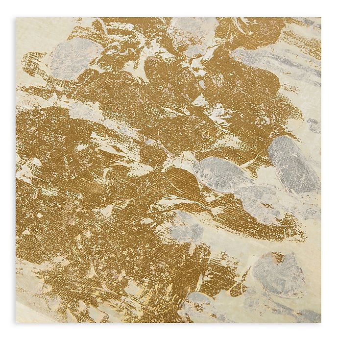 Madison Park Sandy Forest Gel Coat Canvas With Gold Foil Embellishment Wall Art In Taupe Set Of 3 Bed Bath Beyond