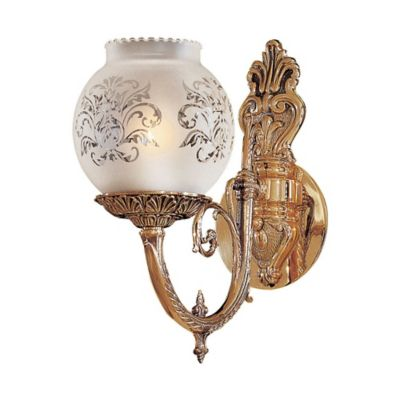 Brass Wall Sconce With Glass Shade : Metropolitan 1-Light Wall Sconce in Brass with Glass Shade - Bed Bath & Beyond