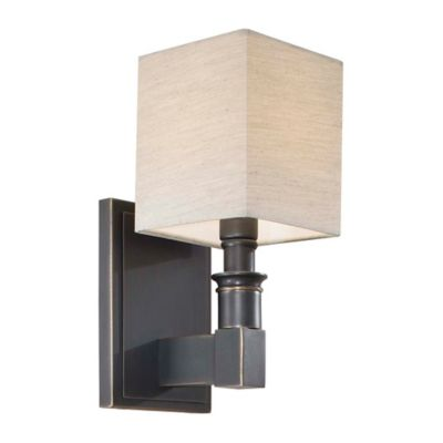 Bronze Wall Sconce With Shade : Buy Metropolitan Home Wall Sconce in Black Bronze with Dusty Bronze Shade from Bed Bath & Beyond