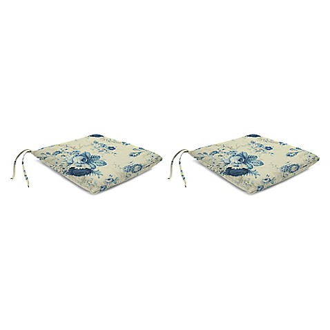 Rose Chair Pads Set Of 2 Bed Bath Amp Beyond