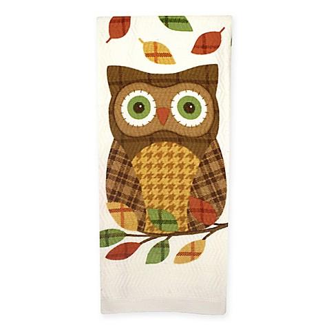 plaid owl dual purpose kitchen towel - bed bath & beyond