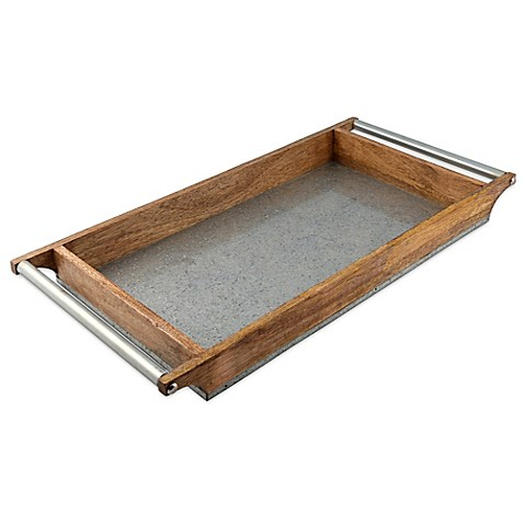 Thirstystone 174 Mango Wood And Galvanized Iron Rectangular