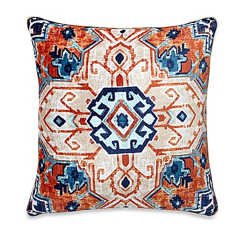 Bed Bath And Beyond Orange Throw Pillows : Veracruz 20-Inch Square Throw Pillow in Orange - Bed Bath & Beyond