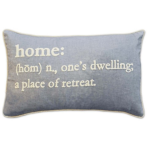 Home Definition Oblong Throw Pillow in Grey - Bed Bath & Beyond