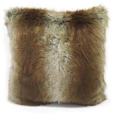 Brown Fur Throw Pillows : Musquash Faux Fur Square Throw Pillow in Brown - Bed Bath & Beyond