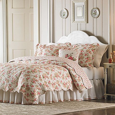 Mary Jane S Home Sweet Roses Quilt In Pink Bed Bath Amp Beyond