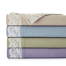 image of Micro Flannel® Lace Edged Sheet Set